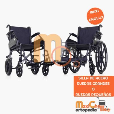 Venta de silla de acero de ruedas grandes o pequeñas en Gran Canaria