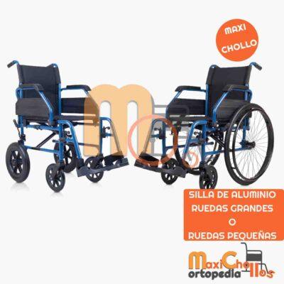 Venta de silla de aluminio de ruedas grandes o pequeñas en Gran Canaria