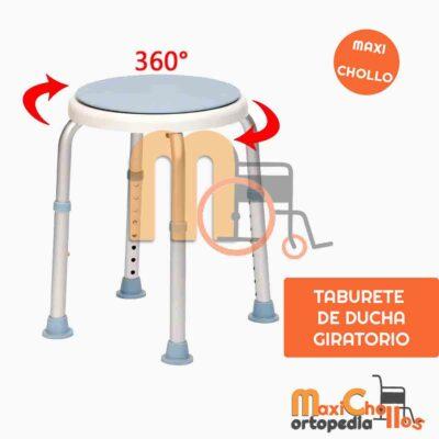 Venta de Taburete de ducha con asiento giratorio 360º ideal para espacios reducidos en Gran Canaria